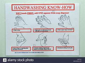 Close Up Of Instructions On How To Wash Your Hands