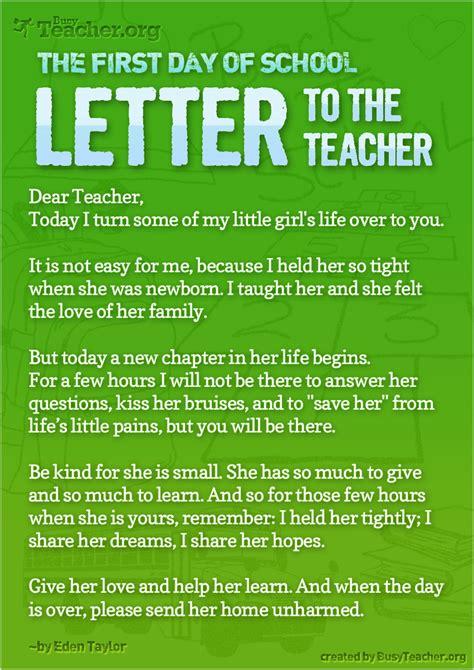 day  school letter   teacher poster