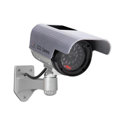 interior home surveillance cameras shop sunforce solar interior exterior simulated security camera at lowes com