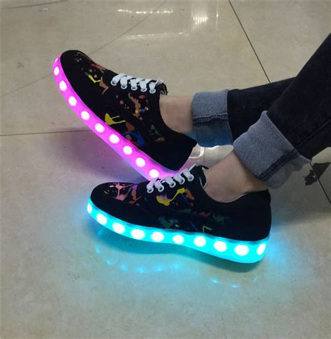 Pacer Lights by Spring 2015 New Led Shoes Women And Men Coloful Graffiti
