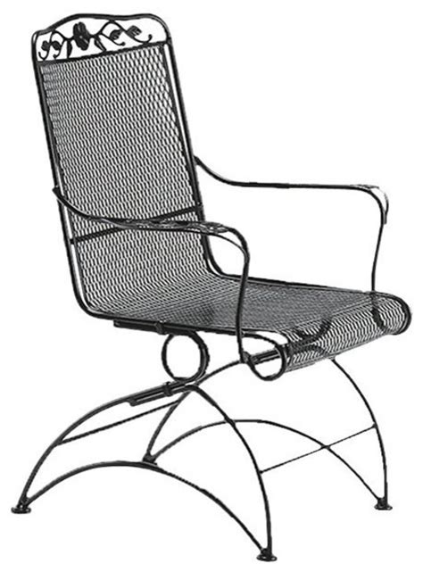 woodard windflower mesh high back coil chair
