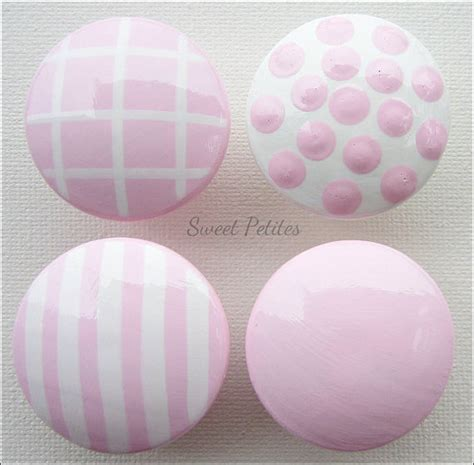 pink decorative dresser knobs painted knob dresser drawer stripes and polka dots