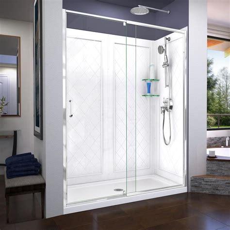 3 Shower Kit by Dreamline Flex 3 Alcove Shower Kit Common 60 In X