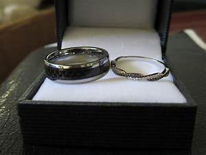 july brides got your wedding bands yet With carbon fiber wedding ring set