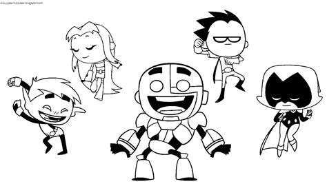 Teen Titans Go Coloring Pages - Costumepartyrun