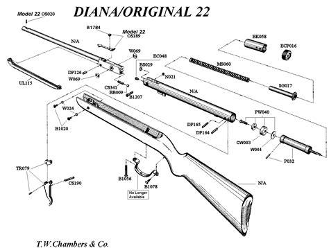 dianaoriginal airgun spares chambers gunmakers