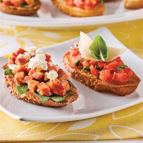 cuisine recettes pratiques duo de bruschettas recettes cuisine et nutrition