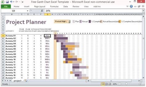 excel project management template with gantt schedule creation free gantt chart excel template