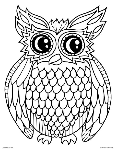 Coloring Owl by Coloring Pages