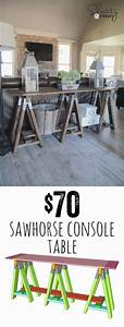 DIY Sawhorse Console Table Console tables, Consoles and