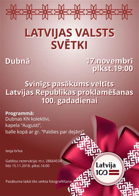 Latvijas valsts svētki Dubnā - Daugavpils novada dome