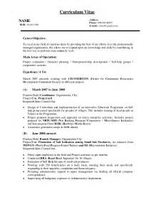 Resume In Exle by Assistant Quantity Surveyor Resume Abroad Sales