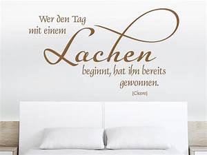 Erotische Bilder Für Schlafzimmer : wandtattoo wer den tag mit einem lachen beginnt wandtattoo de ~ Michelbontemps.com Haus und Dekorationen