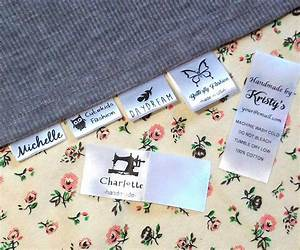 30 custom clothing name label sew in hanging tag fabric for How to sew labels on clothes