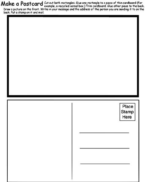 Make A Postcard Coloring Page | crayola.com