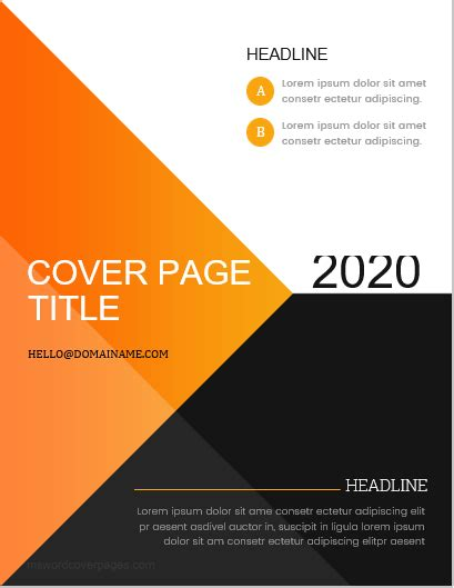 business report cover page templates  ms word