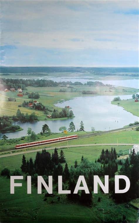 original vintage poster finland travel poster  sale