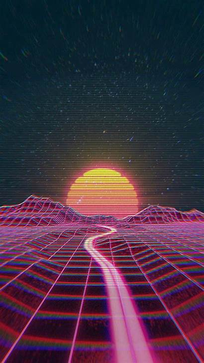 Aesthetic Wallpapers Backgrounds Vaporwave Iphone Retro Wave