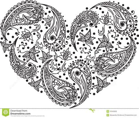 paisley vector heart stock vector image  texture