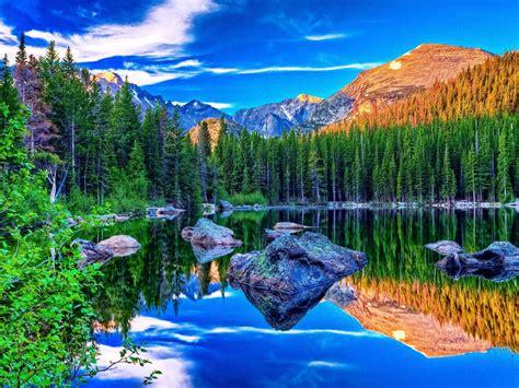 hoover lake  british columbia canada beautiful mountain