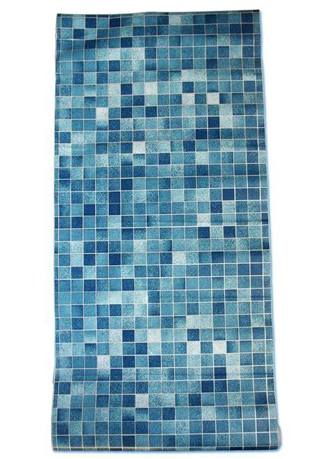 Tapete Selbstklebend Küchentapete Mosaik Fliesen Blau