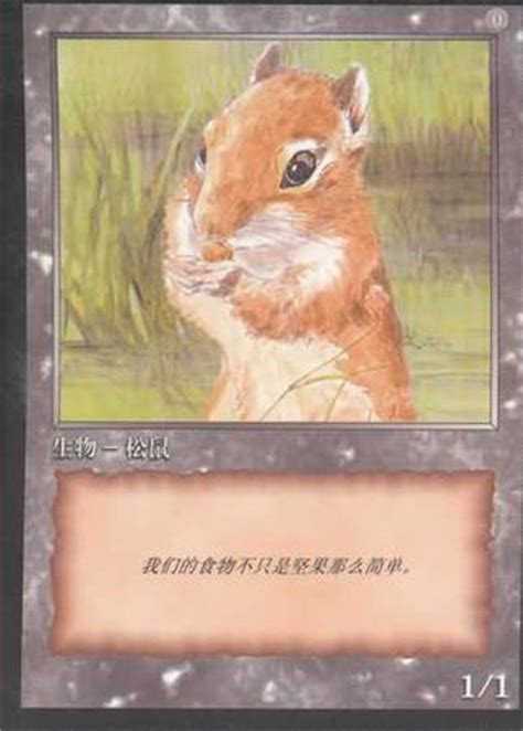 squirrel deck mtg 2015 squirrel promo token japanese 10th anniversary promo