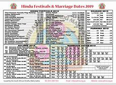 2019 Hindu Calender including Festival dates, Wedding dates, Ekadashi dates, etc – Dipika