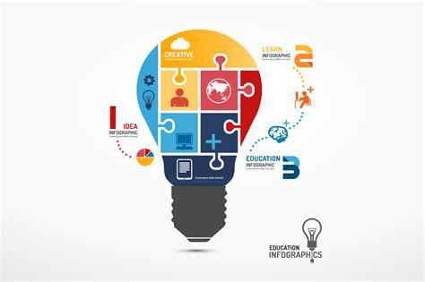 Desarrollo Web Templat by Infographic Lightbulb Jigsaw Concept Presentation