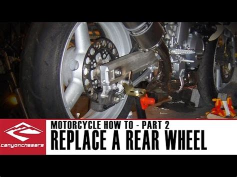 How To Remove And Replace A Rear Motorcycle Wheel Part 2