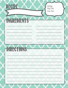 melanie gets married recipe binder printables With free recipe templates for binders