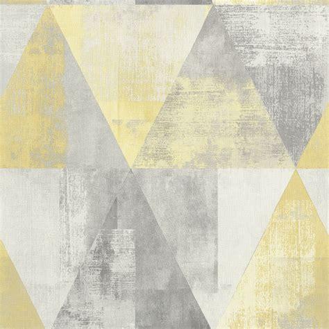 Rasch Tapete Grau by Vlies Tapete Used Dreiecke Grau Gelb Rasch 410921