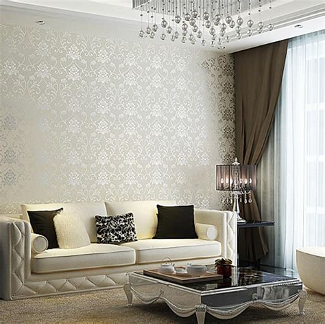 wallpaper living room 30 and chic living rooms with damask wallpaper