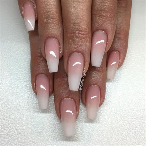 Coffee nail designs are the best choice for fall & winter, so check out the cutest pictures we`ve found lately! French ombre nails coffin - New Expression Nails