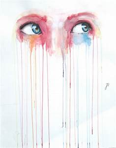 Illustration art popular sad eyes painting design featured ...