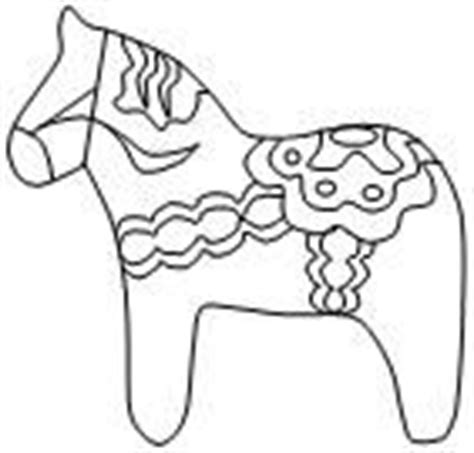 Swedish Dala Horse Template For Coloring Around The