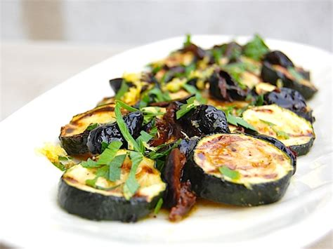 grilled zucchini grilled zucchini with olives parsley and lemon recipe serious eats