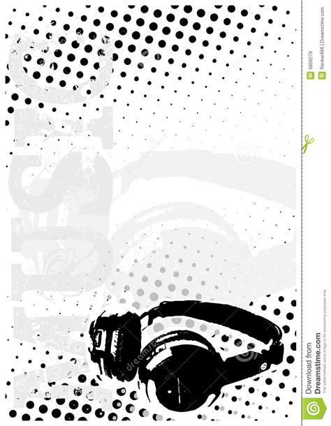 dj dots poster background royalty  stock images