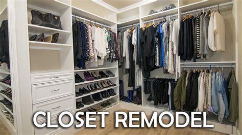 Closet Renovations by Walk In Closet Remodel Diy
