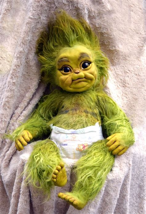 baby christmas stealer baby grinch creepy dolls
