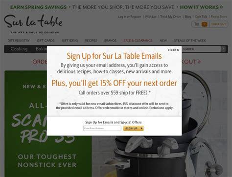 sur la table coupon code sur la table coupons surlatable com promotion codes