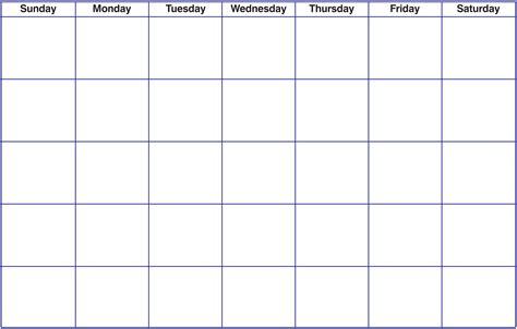 Blank Calendar Template Free Printable Blank Calendar Template Pdf Word Calendar