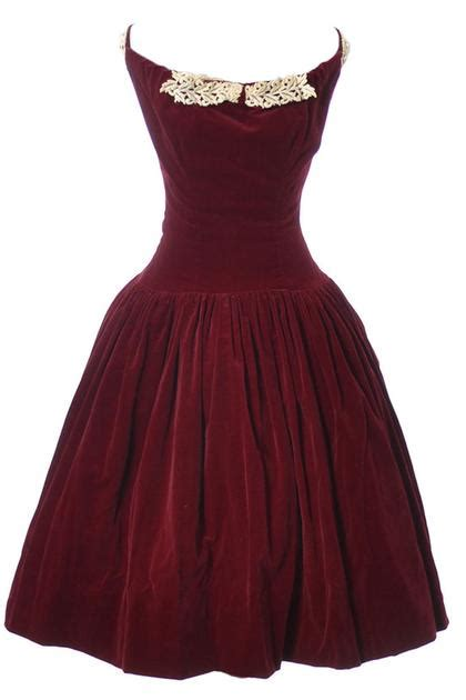 cherry red velvet vintage dress  leon frank ohio dressing vintage