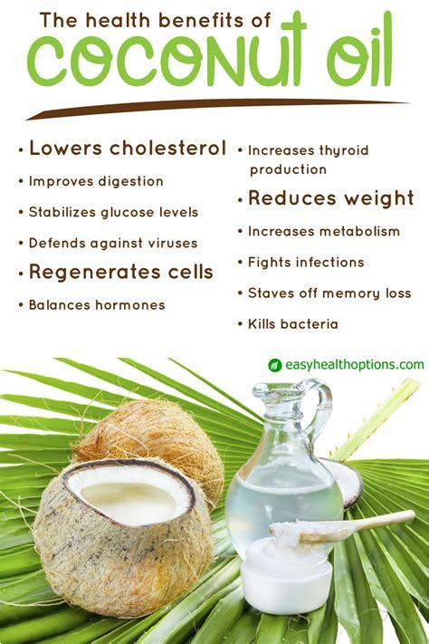 health benefits  coconut oil infographic easy