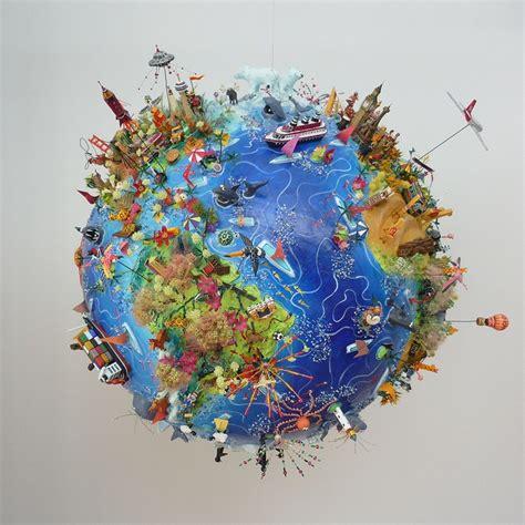 Paper Mache World Globe