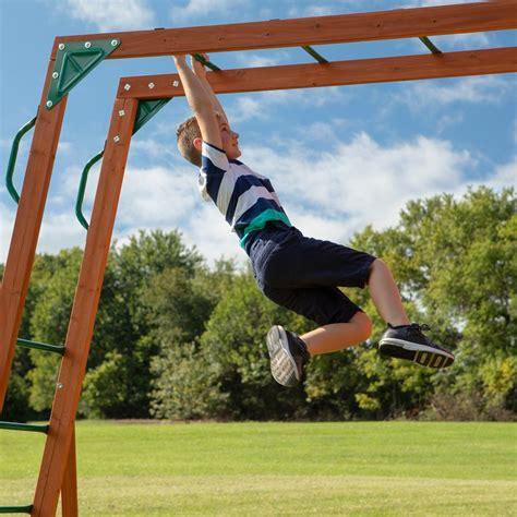 skyfort ii wooden swing set  outdoor playset backyard