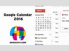 Google Calendar Tutorial 2016 Quick Start AnsonAlexcom