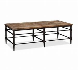 parquet reclaimed wood rectangular coffee table pottery barn With reclaimed wood coffee table rectangle