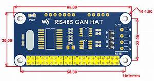 Can Bus Plus Rs485 Hat For Raspberry Pi