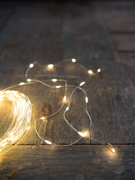 battery operated led fairy lights  silver wire
