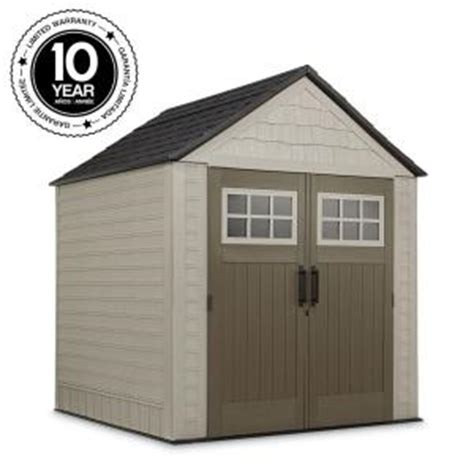 rubbermaid big max 7 ft x 7 ft storage shed 1887154